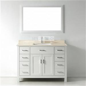 Spa Bathe 48-in Kenzie Series Bathroom Vanity,KZ48Wht-GB
