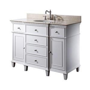 Avanity 48-in Windsor Bathroom Vanity with Countertop and Si