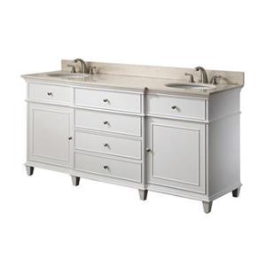 Avanity Windsor 72-in Double Bathroom Vanity with Countertop
