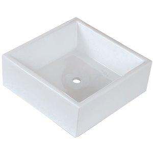 """American Imaginations Above-Counter Vessel - 14.75"""" - Ceramic - White"""
