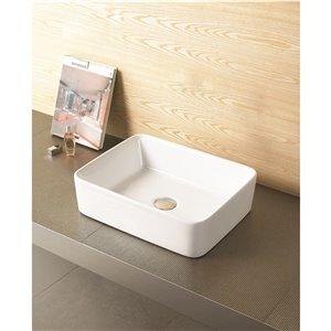 """American Imaginations Above-Counter Vessel - 18.75"""" - Ceramic - White"""