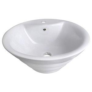 """American Imaginations Above-Counter Vessel - 19.25"""" - Ceramic - White"""