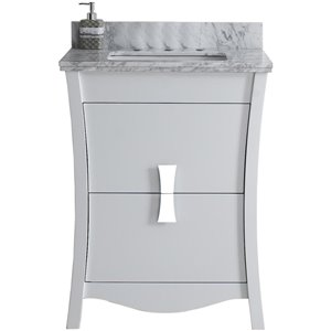 "American Imaginations Bow Vanity Set  - Single Sink - 23.75"" - White"