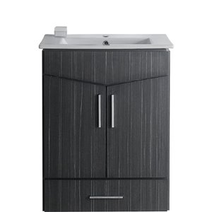 "American Imaginations Zen Vanity Set  - Single Sink - 23.75"" - Gray"