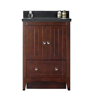 "American Imaginations Shaker Vanity Set  - Single Sink - 23.75"" - Brown"