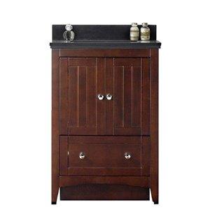 """American Imaginations Shaker Vanity Set  - Single Sink - 23.75"""" - Brown"""