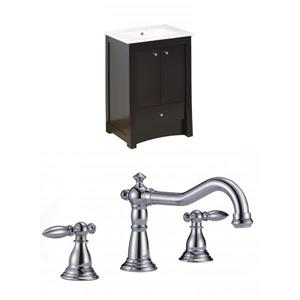 "American Imaginations Elite Vanity Set  - Single Sink - 23.75"" - Brown"