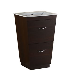 21-in Vee Plywood-Melamine Vanity Set