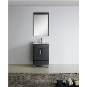 """American Imaginations Zen Vanity Base Set - 24"""" x 21"""" - Gray"""