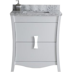 "American Imaginations Bow Vanity Set  - Single Sink - 30.5"" - White"