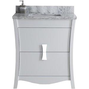 "American Imaginations Bow Vanity Set  - Single Sink - 30.5"" - White"