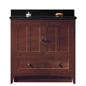"American Imaginations Shaker Vanity Set  - Single Sink - 36"" - Brown"