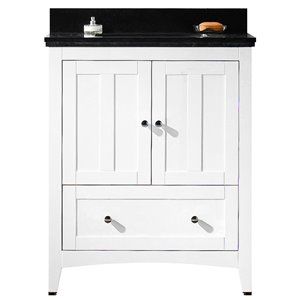 "American Imaginations Shaker Vanity Set  - Single Sink - 30.5"" - White"