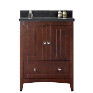 "American Imaginations Shaker Vanity Set  - Single Sink - 30.5"" - Brown"