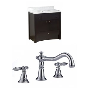 "American Imaginations Elite Vanity Set  - Single Sink - 36"" - Brown"