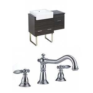 "American Imaginations Xena Farmhouse Vanity Set  - Single Sink - 36.75"" - Gray"