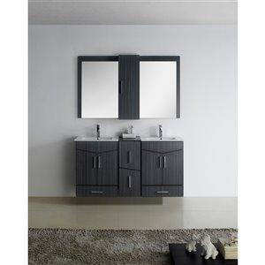 """American Imaginations Zen Vanity Base Set - 58"""" x 30"""" - Gray"""