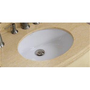 19.5-in W x 16.25-in B2F CUPC Certified Oval Undermount Sink