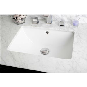 """American Imaginations CUPC Certified Undermount Sink - 18.25"""" x 5"""" - White"""