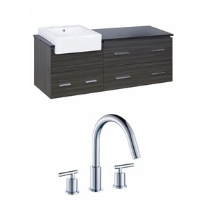 "American Imaginations Xena Farmhouse Vanity Set  - Single Sink - 60.75"" - Gray"