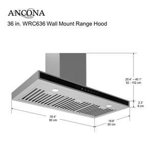 Ancona 36-in Wall-Mounted Range Hood (Stainless Steel)