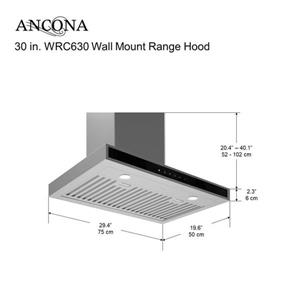 Ancona 30-in Wall-Mounted Range Hood (Stainless Steel)