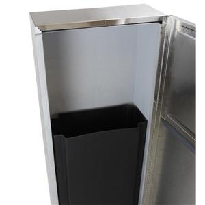 Frost Surface Mounted Waste Receptacle - Stainless Steel