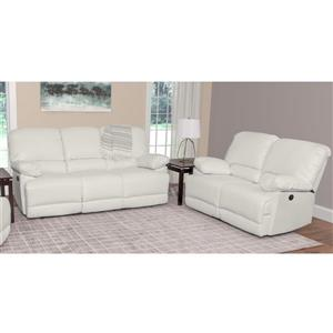 CorLiving Bonded Leather Reclining Sofa Set - 2 pieces