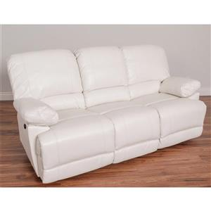 CorLiving Bonded Leather Reclining Sofa - Grey