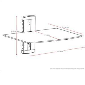 CorLiving Wall Shelf - Black