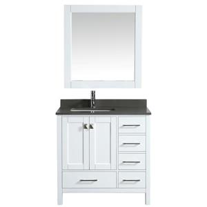 "London Single Vanity with Matching Mirror - 36"" - White"
