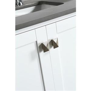"""London Single Vanity with Matching Mirror - 54"""" - White"""