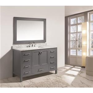 "London Single Vanity with Matching Mirror - 54"" - Gray"