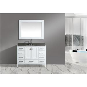 "London Single Vanity with Matching Mirror - 48"" - White"