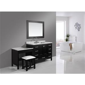 """London Single Vanity and Table with Mirror - 78"""" - Espresso"""