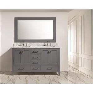 "London Double Vanity with Matching Mirror - 61"" - Gray"