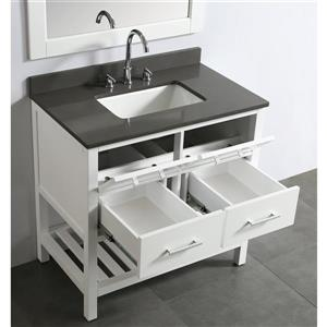 """London Single Vanity with Matching Mirror - 36"""" - White"""