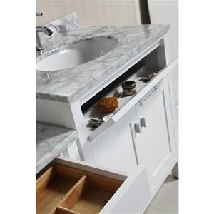 """London Two Vanities with Table and Mirror - 90"""" - White"""