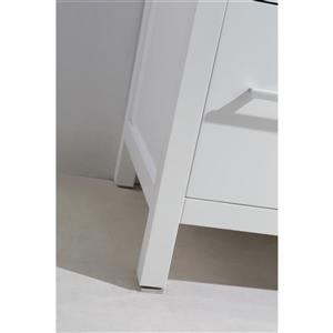 """London Double Vanity with Matching Mirror - 84"""" - White"""