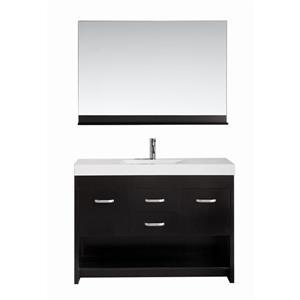 "Citrus Single Vanity with Matching Mirror - 48"" - Espresso"
