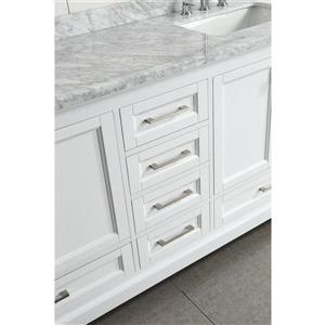 """Omega Double Vanity with Matching Mirror - 72"""" - White"""