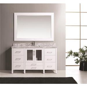 "Stanton Single Vanity with Matching Mirror - 60"" - White"