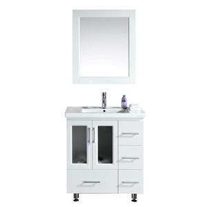 "Stanton Single Vanity with Matching Mirror - 32"" - White"