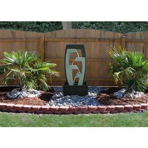 Henryka Outdoor Fountain - LED Lights - Concrete