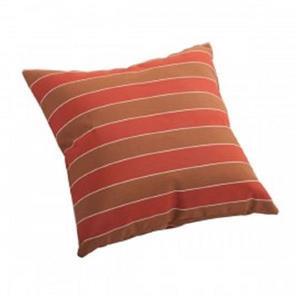 Zuo Modern Joey Outdoor Pillow - 16.5-in x 16.5-in - Orange Stripes