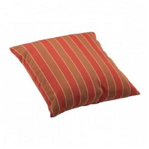 Zuo Modern Joey Outdoor Pillow - 21.3-in x 21.3-in - Orange Stripes
