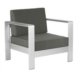 Zuo Modern Cosmopolitan Arm Chair Cushion - 24.5-in x 24.5-in - Dark Grey