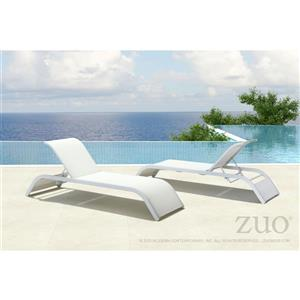 Sun Beach Chaise Lounge - White