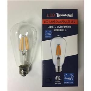 TorontoLed Victorian Light Bulb - 5 PK