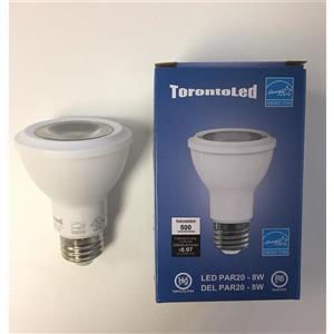 TorontoLed LED COB PAR20 Bulb - 5 PK - White